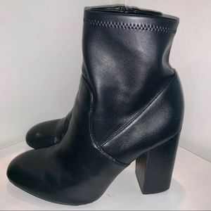 Rebecca Minkoff Black Leather Booties.